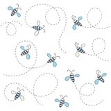 Teste padrão da abelha Fotografia de Stock Royalty Free