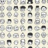 Teste padrão bonito sem emenda dos desenhos animados Imagem de Stock