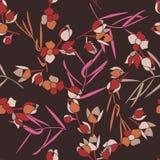 Teste padrão bonito simples em flores em escala reduzida Imagem de Stock Royalty Free
