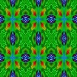 Teste padrão bonito verde do caleidoscópio Fotos de Stock