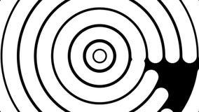 Teste padrão branco abstrato do círculo para a transição ilustração do vetor