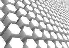 Teste padrão branco do hexágono Fotografia de Stock