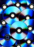 Teste padrão brilhante de compacts-disc em branco Fotos de Stock