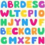 Teste padrão brilhante do alfabeto das crianças sem emenda Imagens de Stock Royalty Free