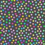 Teste padrão brilhante sem emenda do arco-íris de diamantes pequenos ilustração do vetor