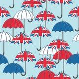 Teste padrão britânico do guarda-chuva ilustração royalty free
