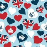 Teste padrão britânico dos corações Fotos de Stock