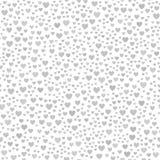 Teste padrão caótico cinzento do coração Fundo sem emenda do vetor ilustração do vetor