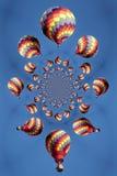 Teste padrão calidoscópico de um balão de ar quente ilustração royalty free