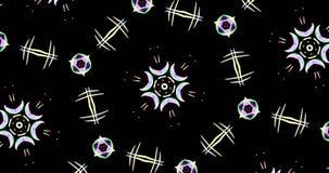 Teste padrão calidoscópico no fundo escuro em cores vibrantes Fotografia de Stock Royalty Free