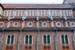 Teste padrão caracterizado da igreja de Saigon, Vietnam Imagens de Stock