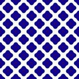 Teste padrão cerâmico azul e branco ilustração do vetor