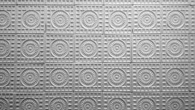 Teste padrão cerâmico das telhas da parede do vintage, branco preto foto de stock royalty free