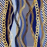 Teste padrão chain do mar ilustração do vetor