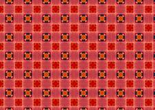 Teste padrão Checkered vermelho dos círculos Fotos de Stock