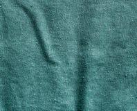 Teste padrão ciano da lona do algodão da cor foto de stock