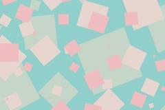 Teste padrão ciano e cor-de-rosa colorido moderno das caixas Foto de Stock Royalty Free