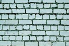 Teste padrão ciano sujo da parede de tijolo da cor imagem de stock royalty free