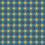 Teste padrão cinzento, azul e amarelo das cores Imagens de Stock Royalty Free