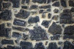 Teste padrão cinzento da cor da pedra real rachada desigual decorativa Fotos de Stock