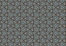 Teste padrão cinzento das formas dos triângulos Fotografia de Stock