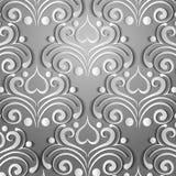 Teste padrão cinzento de papel Foto de Stock Royalty Free