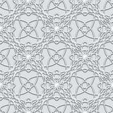 Teste padrão cinzento do laço ilustração royalty free