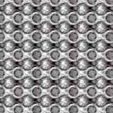 Teste padrão cinzento dos círculos Imagens de Stock