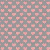 Teste padrão cinzento e cor-de-rosa do coração Fotos de Stock Royalty Free