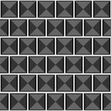 Teste padrão cinzento sem emenda geométrico abstrato do vetor com quadrados Imagens de Stock