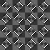 Teste padrão cinzento sem emenda geométrico abstrato do vetor com quadrados Fotos de Stock Royalty Free