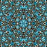 Teste padrão circular azul ilustração royalty free