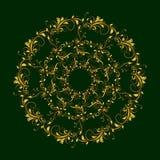 Teste padrão circular bonito de floral ilustração stock