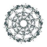 Teste padrão circular bonito de floral ilustração royalty free