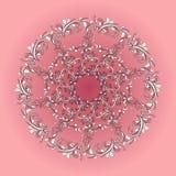 Teste padrão circular bonito de floral ilustração do vetor