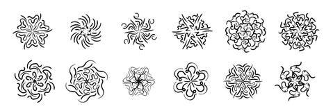 Teste padrão circular com testes padrões ilustração royalty free