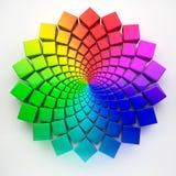 Teste padrão circular 3d do espectro Imagens de Stock Royalty Free