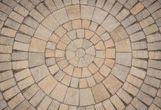 Teste padrão circular da pedra de pavimentação fotos de stock royalty free
