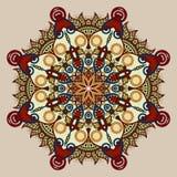 Teste padrão circular do vintage dos arabesques Foto de Stock Royalty Free