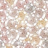 Teste padrão circular, tribal com motivos de tribos africanos Surma e Murs Fotografia de Stock Royalty Free