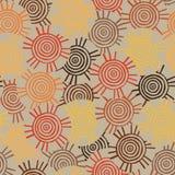 Teste padrão circular, tribal com motivos de tribos africanos Surma e Mursi Foto de Stock