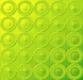 Teste padrão circular - verde amarelado de incandescência Imagens de Stock