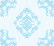 Teste padrão clássico do laço do damasco do ornamento Ilustração Royalty Free