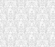 Teste padrão clássico do ornamento floral do estilo Ilustração Royalty Free