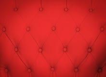 Teste padrão clássico vermelho do sofá Foto de Stock Royalty Free