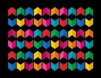 Teste padrão colorido Foto de Stock