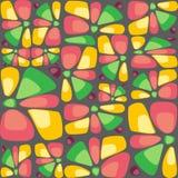 Teste padrão colorido abstrato com pedras decorativas ou pétalas Foto de Stock Royalty Free