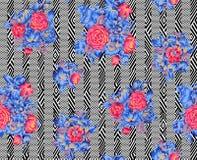 Teste padrão colorido abstrato da cópia de bloco fotografia de stock