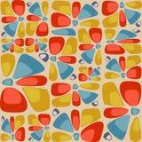 Teste padrão colorido abstrato da telha com pedras decorativas, pétalas Fotos de Stock Royalty Free