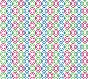 Teste padrão colorido abstrato dos círculos ilustração do vetor